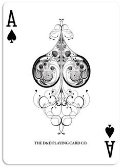 playing card design. The spade design in the middle would make a great tattoo.