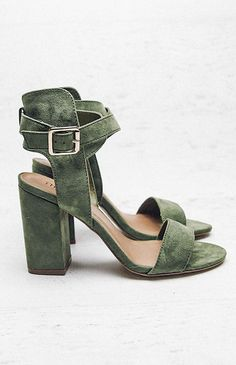 Therapy Collins Heel - Khaki Suede from peppermayo.com