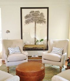 seating area // Pure Style Home #chairs #artwork