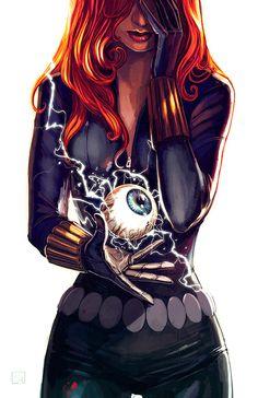 Geek original sin / Black Widow variant by Stephanie Hans