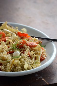 Millet Pilaf with Roasted Carrot and Fennel - An Edible Mosaic