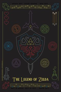 [OC] As an aspiring poster designer, here is my tribute to the Legend of Zelda series. Hope you like it!