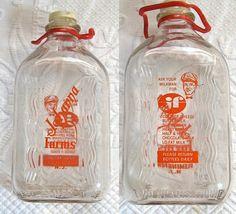 Vintage Glass  MILK BOTTLE  Flemington N.J. 1960s. I loved MILK being delivered to your porch at home.