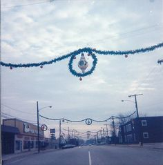 Highway Avenue, downtown Highland Indiana - I loved those Holiday decorations!