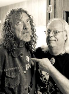 Robert Plant & photographer Frank Melfi, April 26, 2014 at the New Orleans Jazz Fest.