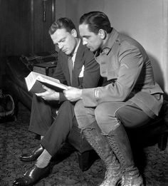 climbing-down-bokor:  James Cagney and Fredric March, 1936