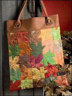 Get into the Fall Spirit with the Quilted Leaf Peeper's Tote