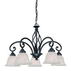 Dolan Designs Wicker Park 5 Light Chandelier -- I like the simplistic style