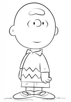 Charlie Brown coloring page from Peanuts category. Select from 20946 printable crafts of cartoons, nature, animals, Bible and many more.