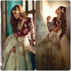 Best wedding indian lengha color combos ideas - New Ideas Indian Wedding Outfits, Pakistani Outfits, Indian Outfits, Indian Lengha, Pakistani Couture, Desi Clothes, Bridal Lehenga, Wedding Lehnga, Indian Designer Wear