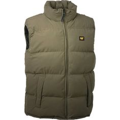 Caterpillar Quilted Insulated Vest Workwear - Size - Mens Caterpillar Quilted Insulated Vest Jacket - Olive - Keep your core warm with our classic quilted insulated vest. Made of micro-peached polyester. Body Warmer, Outdoor Outfit, Caterpillar, Vest Jacket, Stay Warm, Canada Goose Jackets, Work Wear, Winter Jackets, Nyc
