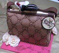Torte per bag addict Mini Cakes, Cupcake Cakes, Cup Cakes, Creative Cakes, Creative Food, Cake Pictures, Cake Pics, Gucci Cake, Handbag Cakes