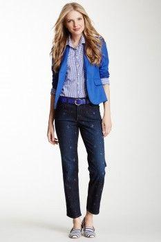 NYDJ Alisha Fitted Star Printed Ankle Jean