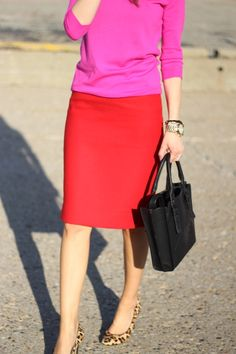 Lillys Style: color blocking + leopard