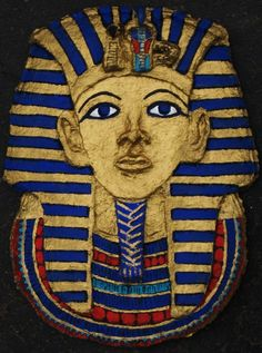 How to: Paper Mache Egyptian Mask Egyptian Mask, Egyptian Party, Ancient Egyptian Art, Ancient History, History Projects, Art History, Art Projects, School Projects, Ancient Egypt For Kids