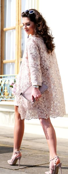 Lace Coat Outfit Idea by Fashion Hippie Loves