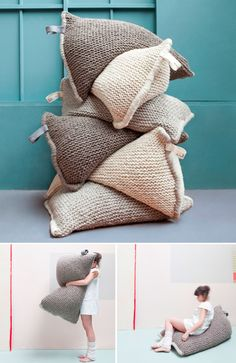 knitted bean bags - I think I pinned this some time back.. . .
