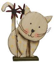 Wooden Kitty Cat