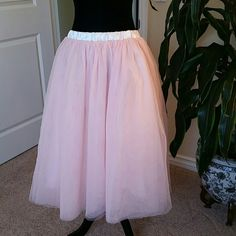 Easter Sale. Tulle skirt. Gorgeous pink tulle skirt. Lined with 5 layers, 32 waist. Brand new. Skirts