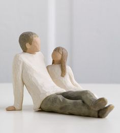 Willow Tree Collectables. Father and Daughter.