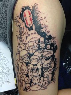 I don't know about u but I <3 Studio Ghibli. Howls moving castle is to this day my favorite Ghibli movie. Each character has their own unique personality and features that differentiate them. :)  30 Awesome Ghibli Tattoos Ideas