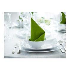 IKEA - MYNDIG, Lautanen, 28x21 cm, , Epäsäännölliset muodot ja neliömäisyys ovat origamien innoittamat. Kaunis astia tuo ruoan esiin näyttävästi.