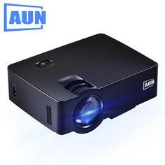 AUN Projector AKEY1 Full HD 1080P Video LED TV MINI Multimedia Projector