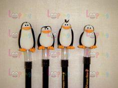 Ponteiras de Lápis - Pinguins Madagascar | Looping | Elo7