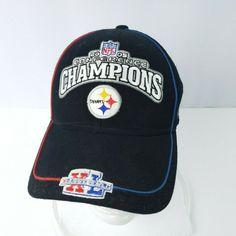 2413985fff2 Reebok NFL Pittsburgh Steelers Hat Cap 2005 Conference Champions Adjustable   Reebok  BaseballCap