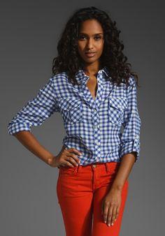 C&C; California Roll Sleeve Pocket Shirt