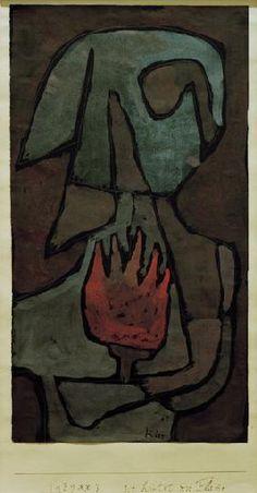 Paul Klee - sie huetet die Flamme,