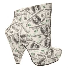 very cheap looking-  American Dollar Boots by Irregular Choice
