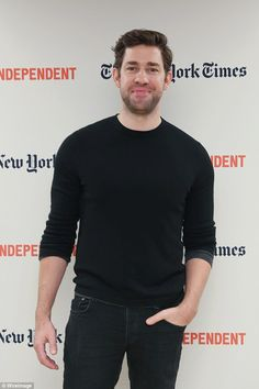 Love his wit and he's a cutie- John Krasinski best known from the Office as Jim.