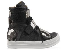 Jeffrey Campbell Optimus in Black Snake Silver at Solestruck.com - one please
