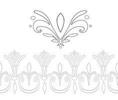 Elsa Coronation Dress Pattern Outlines by Kaeldri