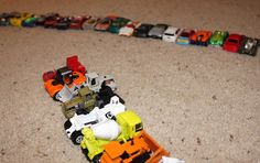 Use hot wheels cars for math - counting, sorting, graphing!