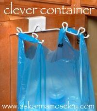 Fantastic for storing extra shopping bags, plastic bottles, etc.  #organize