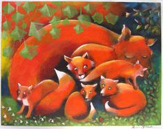 Raija Nokkala postcards:Cunning Little Vixen