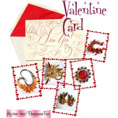 Valentine Card by renaissance-fair on Polyvore