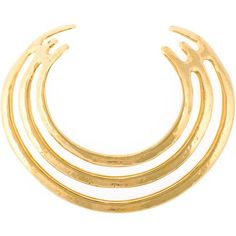 Aurelie Bidermann Esteban Necklace (7.560 BRL) ❤ liked on Polyvore featuring jewelry, necklaces, metallic, metallic jewelry, aurelie bidermann necklace, gold plated jewelry, gold plated jewellery and gold plated necklace