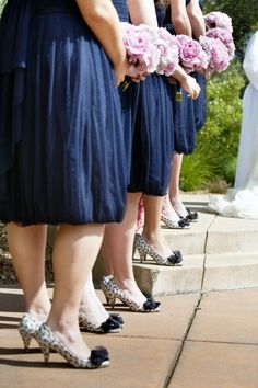 print shoes for bridesmaids!