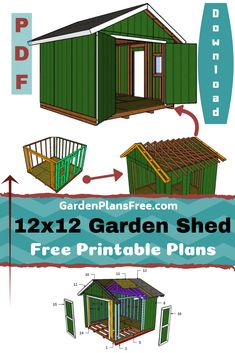 Easy to build garden shed with a gable roof double front doors a side door and a window. Step by step instructions diagrams a detailed cut list and a complete materials list all for FREE. Shed Building Plans, Diy Shed Plans, Storage Shed Plans, Building Ideas, Building Design, Barn Plans, Tool Storage, Front Door Steps, Double Front Doors