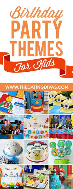 Birthday Party Themes for Kids- so many cute and creative birthday party ideas! From The Dating Divas Toddler Birthday Themes, 70th Birthday Parties, Kids Party Themes, Birthday Party Games, Party Ideas, Birthday Surprises For Her, Birthday Ideas For Her, Birthday Gifts For Sister, Art Party Invitations