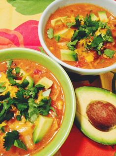 Tortilla Soup! Healthy and delicious with a hint of spice. Perfect for those cold winter nights.