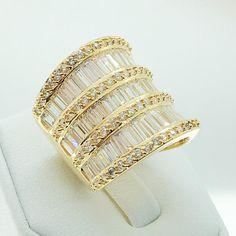 ID:R2527 Women Fashion Jewelry 18K Yellow Gold GF Marvelous | Etsy Women Jewelry, Fashion Jewelry, Band Engagement Ring, Eternity Ring, White Gold, Wedding Rings, Color Stone, Womens Fashion, Yellow