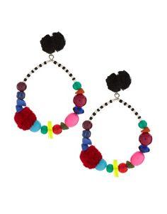 ASOS Pom Pom Drop Earrings - YES!!