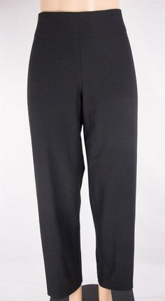 EILEEN FISHER Pants Plus Size 1X 16 18 Black Knit Casual #EileenFisher #KnitPants
