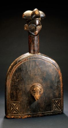 Africa | Bell from the Ibibio people of east Nigeria | Wood