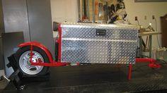single wheel box motorcycle trailer