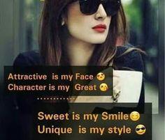 Caption for Girls, Attitude Caption Attitude Quotes For Girls, Crazy Girl Quotes, Girl Attitude, Girly Quotes, Cool Quotes For Girls, Classy Quotes, Funny Girl Quotes, Woman Quotes, Reality Quotes